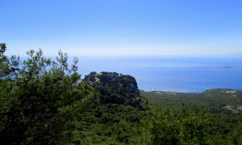 Zdjęcie GRECJA / Rodos / Monolithos / Ruiny zamku Joannitów