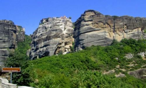 GRECJA / Epir / okolice Kalampaki / Na szczycie jeden z monastyrów