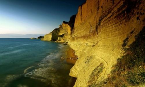 GRECJA / Korfu / Peroulades / Plaża Logas Sunset