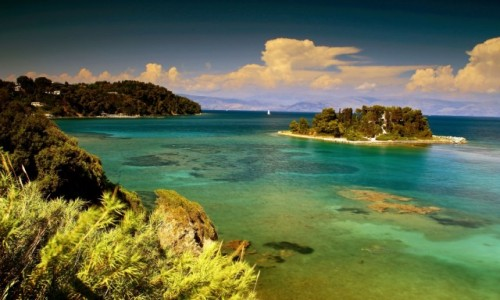 GRECJA / Korfu /  Zatoce Kanoni / Mysia Wyspa