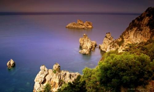 GRECJA / Korfu / Paleokastritsa  /  Błękitne Groty