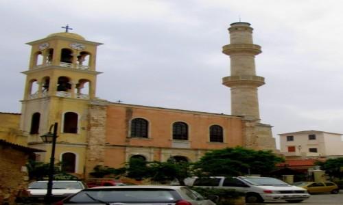 Zdjecie GRECJA / Kreta Zachodnia / Chania / Kościół z dzwonnicą i minaretem
