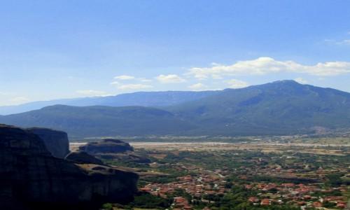 Zdjecie GRECJA / Tesalia / okolice Meteorów / A w dole równina