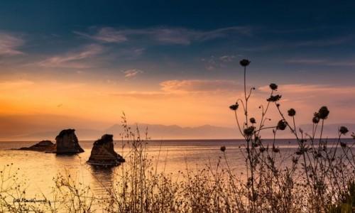 Zdjęcie GRECJA / KORFU / Sidari / Zachód słońca na klifach