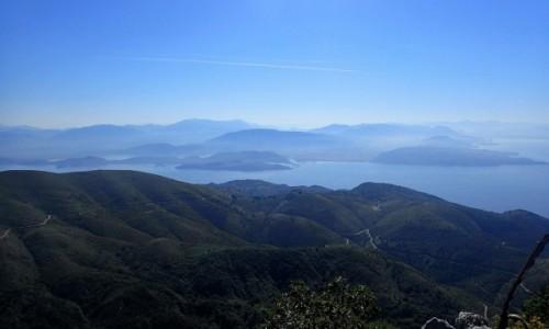 GRECJA / Korfu / Pantokrator / Widok ze szczytu Pantokrator