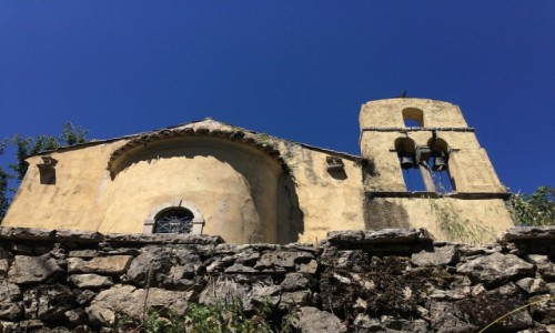 GRECJA / Korfu / Perithia / Old Perithia - ruiny kościoła