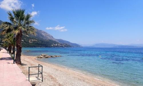GRECJA / Korfu / Ipsos / Plaża Ipsos - Korfu