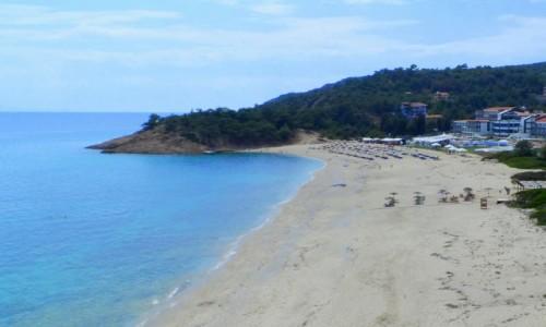 Zdjecie GRECJA / Thassos / Limenaria / Plaża w okolicach Limenarii