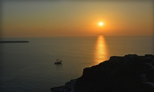 Zdjecie GRECJA / Cyklady / Santorini / Zmierzch