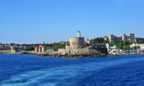 Zdjęcie GRECJA / Dodekanez / Rodos / Port Mandraki