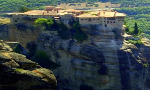 Zdjęcie GRECJA / Tesalia / Meteory / Klasztor na kolosie