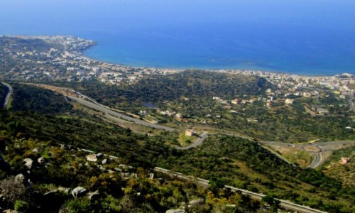 Zdjęcie GRECJA / Kreta Wschodnia / okolice Stalidy / Hersonissos Stalida i Malia z góry