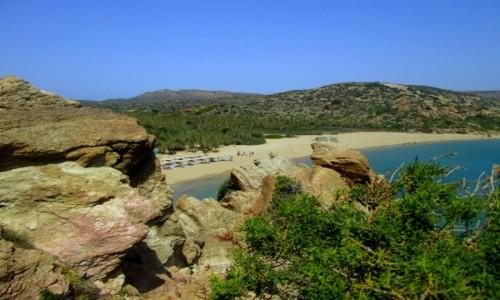 Zdjecie GRECJA / Kreta Wschodnia / Vai / Plaża i to nie dzika