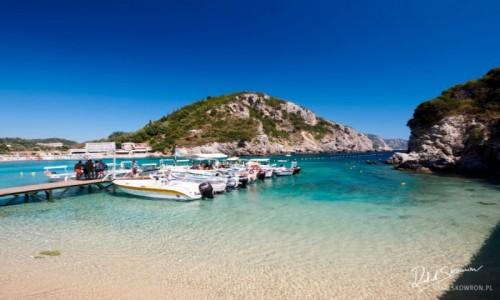 Zdjecie GRECJA / Korfu / Paleokastritsa / Plaża w Paleokastritsa