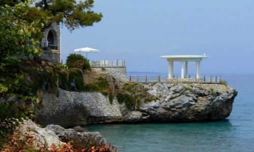 Zdjecie GRECJA / Macedonia /  Neo Panteleimonas / Rezydencja na skale