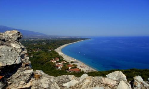 Zdjęcie GRECJA / Macedonia / Zamek w Platamonie / Z góry zawsze piękniej
