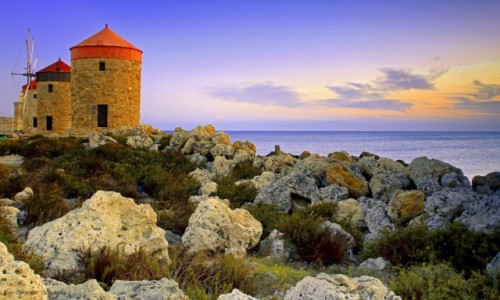 Zdjecie GRECJA / Rodos / Port Mandraki / Wiatraki