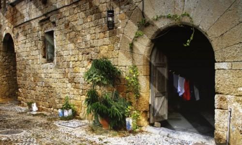 Zdjęcie GRECJA / Rodos / Rodos /  Zaułki Starego Miasta.