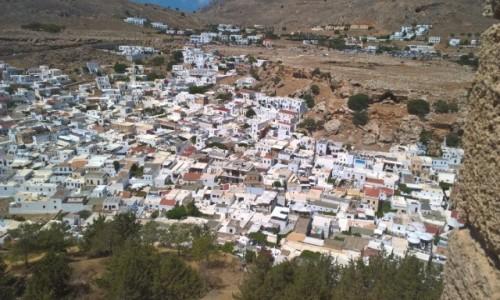 GRECJA / Rodos / Lindos / Białe dachy Lindos