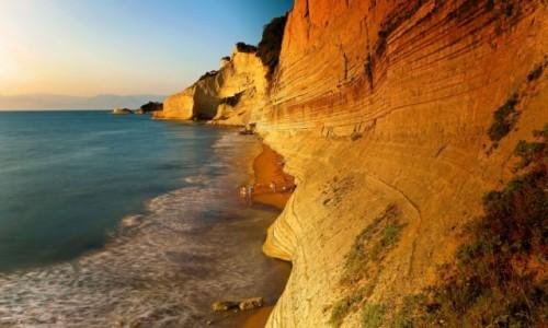 GRECJA / Korfu / Peroulades / Plaża Logas Sunset-2