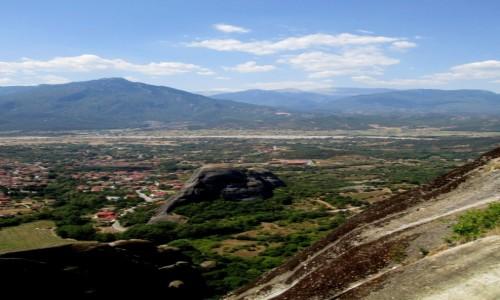 Zdjęcie GRECJA / Tesalia / okolice Kalampaki / Równina Tesalska otoczona górami