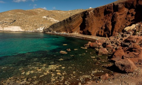 Zdjecie GRECJA / Cyklady / Santorini / Red Beach