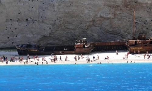 Zdjecie GRECJA / Zakynthos / Plaża w Zatoce Wraku / Wspomnienie z Zakynthos