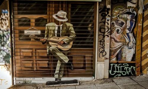 Zdjęcie GRECJA / Attyka / Ateny / mural