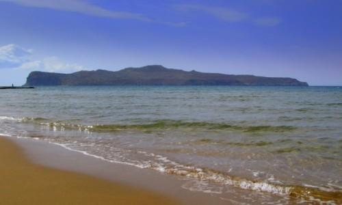 Zdjęcie GRECJA / Kreta Zachodnia / Platanias / Widok na wyspę Św. Teodora