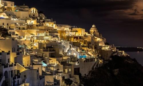 Zdjęcie GRECJA / Cyklady / Santorini / nocą