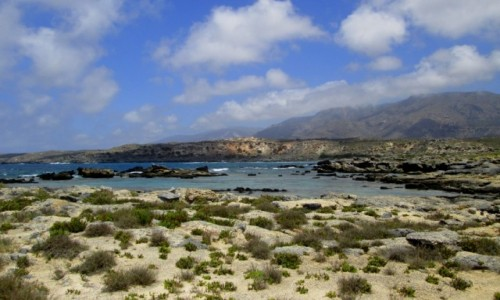 GRECJA / Kreta / Elafonisi / * Widok z wyspy