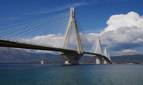 Zdjęcie GRECJA / Peloponez / Nad Zatoką Koryncką i Patraską / Most Rion- Antirio