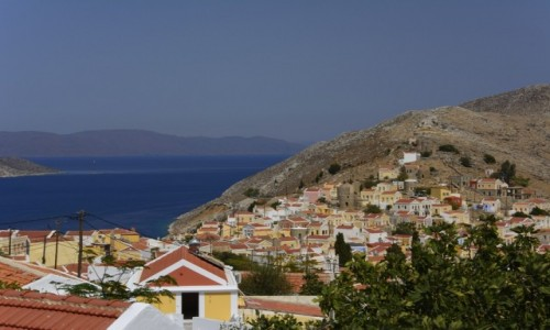 Zdjecie GRECJA / archipelag Dodekanez / wyspa Simi / wyspa kolorowych kamieniczek