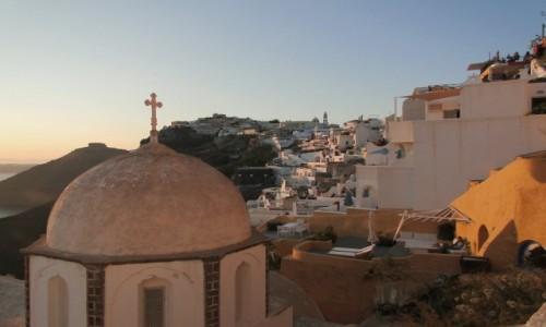 Zdjęcie GRECJA / Cyklady, Santorini / Fira / Wieczór w Firze.