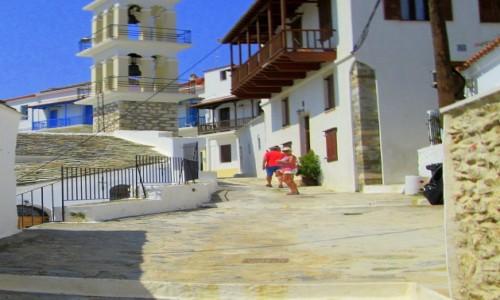 Zdjecie GRECJA / Sporady Północne / Skopelos / Pnące się w górę uliczki