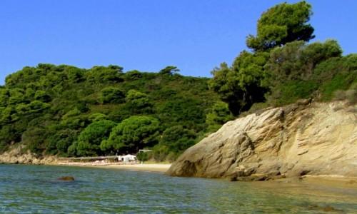 Zdjecie GRECJA / Sporady Północne / Skiathos - okolice Koukounaries / W oddali plaża Xenia