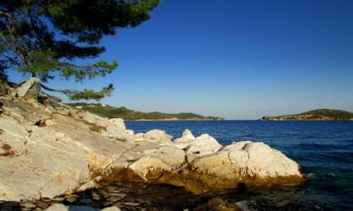 Zdjęcie GRECJA / Sporady Północne / Skiathos  / Białe skały