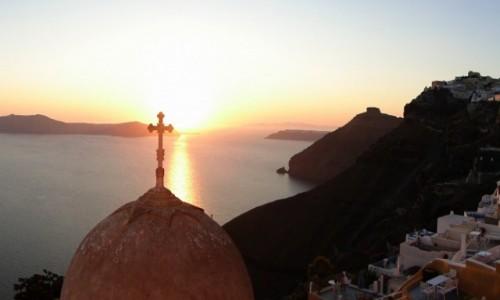 Zdjęcie GRECJA / Cyklady, Santorini / Fira / Santoryńskie wspomnienie.