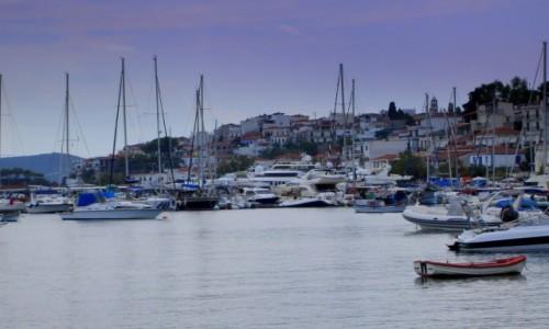 Zdjecie GRECJA / Sporady Północne / Skiathos Town / W szarych niebieskościach