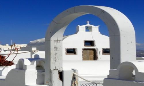 Zdjecie GRECJA / Cyklady, Santorini / Oia / W barwach Grecji.