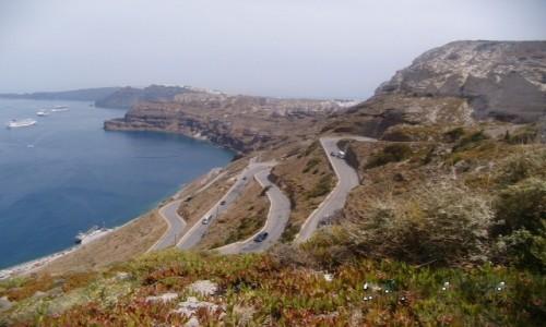 Zdjecie GRECJA / Santorini-Thira / Santoryn / Droga do Portu