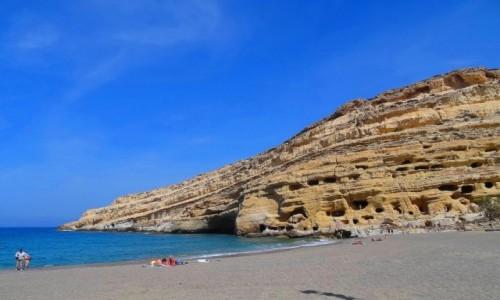 Zdjęcie GRECJA / Kreta / Matala / Tu bywali najsłynniejsi hippisi świata