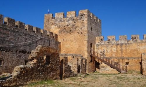 Zdjęcie GRECJA / Kreta / Południowa część środkowej Krety / Ruiny weneckiej twierdzy Frangokastello