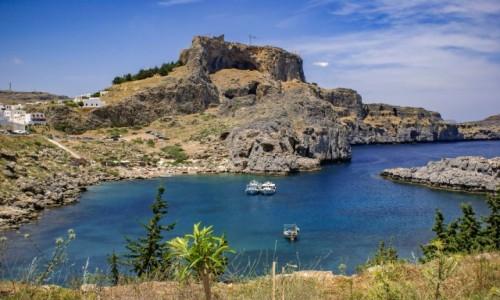 Zdjecie GRECJA / Dodekanez / Rodos / zatoka św.Pawła