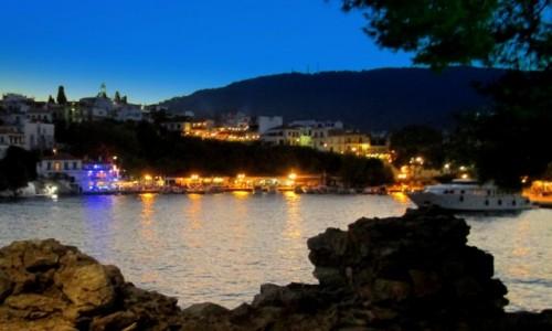 Zdjecie GRECJA / Sporady Północne / Skiathos Town / Nim  odpłyniemy w noc