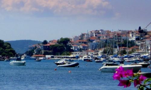 Zdjecie GRECJA / Sporady Północne / Skiathos Town / Z widokiem na port