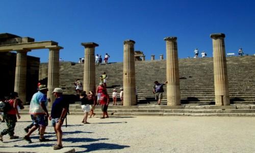 Zdjecie GRECJA / Rodos / Lindos / Akropol o poranku