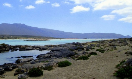 GRECJA / Kreta / Elafonissi / W oddali laguna