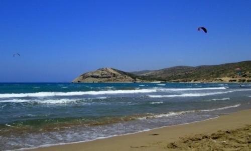 Zdjecie GRECJA / Rodos / Prasonissi / Morze Egejskie w Prasonissi (strona nawietrzna)
