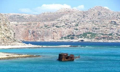 Zdjecie GRECJA / Kreta / Gramvousa / Resztki wraku Dimitriosa